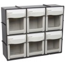 Geiger 6 Compartment Pivot Drawer Set, wall mountable. 300W x 86D mm x 250H mm