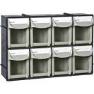 Geiger 8 Compartment Pivot Drawer Set, wall mountable. 300W x 67D mm x 200H mm