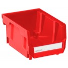 Geiger Small Short Red Bin. 105 mm x 137 mm x 76 mm