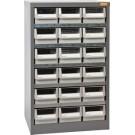 Geiger 18 Drawer Steel Parts Cabinet. 550W x 400D x 880Hmm.