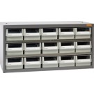 Geiger 15 Drawer Steel Parts Cabinet, 880W x 400D x 440H mm.