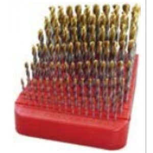Guhring 9651 0.005 HSS TiN Tip Coated Jobber Drill Set