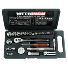 Metrinch 25 Piece 1/4 And 3/8 Inch Socket Set