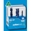 Sutton 4 Piece R40 VA Black Magic Stub Drill Set
