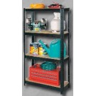 White International Shelving Unit 4 Shelf Black 175kg