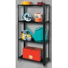 White International Shelving Unit 4 Shelf Black 60kg
