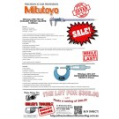 Mitutoyo Coolant Proof Caliper 0-200mm  Micrometer External Range 0-25mm Special